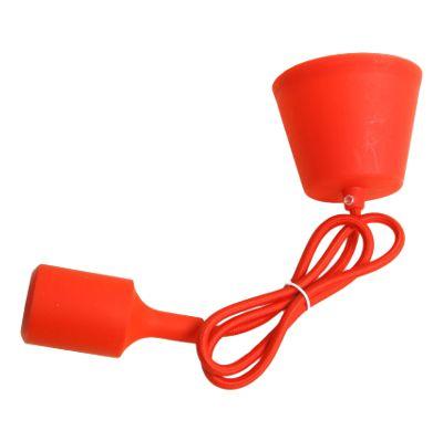 Colgante lámpara silicona rojo  #lamparas #montar #fabricar #decoracion #accesorios #piezas