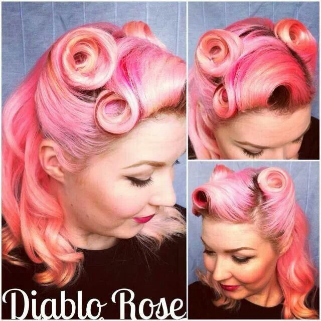 Victory Rolls And Pin Curls Via Diablo Rose Retro