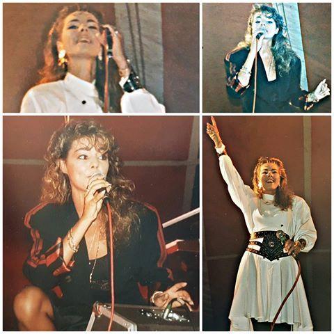 #sandracretu #sandralauer #chanteuse #singer #concert #konzert #1987 #geneve #80sgirl #popmusic #live