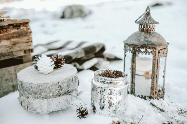 Une inspiration romance en montagne pour un mariage en hiver Image: 27
