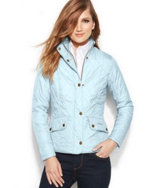 Barbour Flyweight Cavalry Quilted Coat - Blue 14