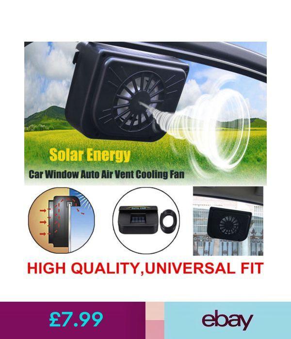 Portable Fans Solar Powered Car Window Windshield Auto Air Vent
