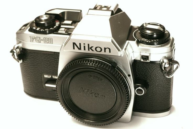 My first SLR - Nikons FG-20. Good learning, but expensive to be experimental. Shot dia-film most of the time.