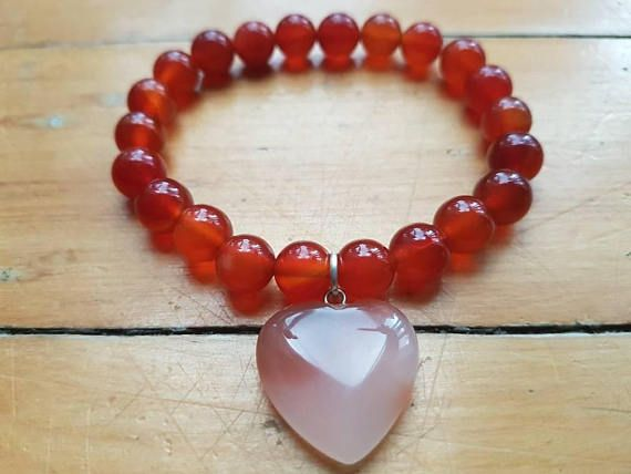 Check out this item in my Etsy shop https://www.etsy.com/ca/listing/558383124/natural-red-agate-bead-bracelet-womens