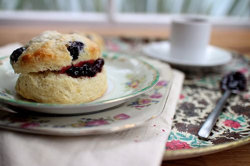 maple blueberry scones - add conf sugar & syrup to mix make this sweeter. Or mix conf sugar and maple syrup till smooth and smashed blueberries for a glaze :)