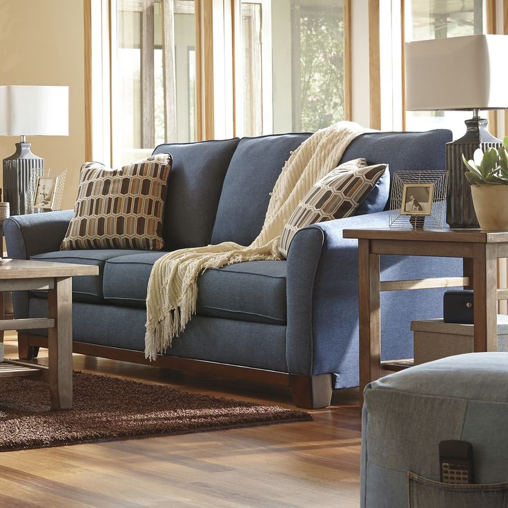 Benchcraft Janley Denim Sofa & Reviews | Wayfair $469 3.7.17