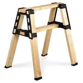 2x4 Basics Saw Horse Brackets: Just add 2x4's to make a very well built sawhorse up to 8' long and 4' high.