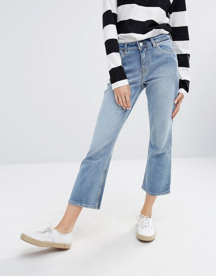 Weekday+Cut+Mid+Rise+Crop+Kick+Flare+Jeans