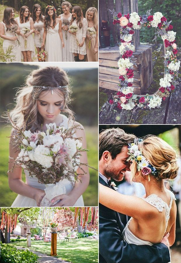 boho wedding decoration and accessories details 2015