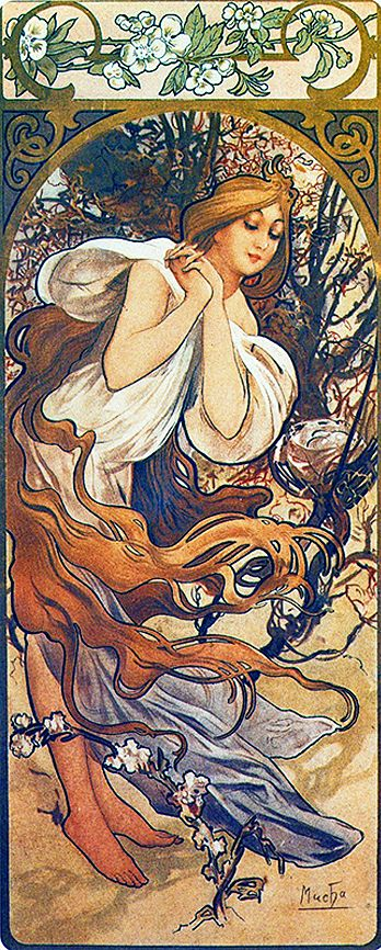 Alphonse Mucha Spring-1897