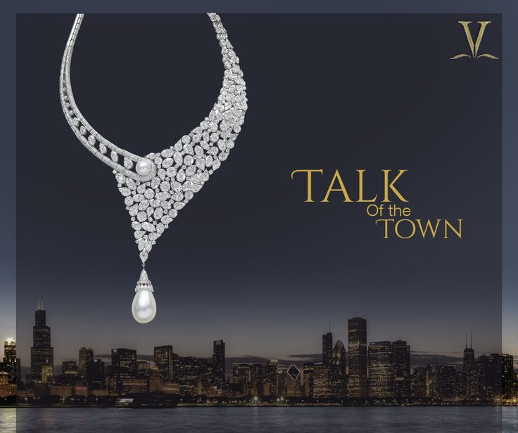 The lovely and stunning pearl necklace is made to add glamour to every soiree.  #TalkOfTheTown
