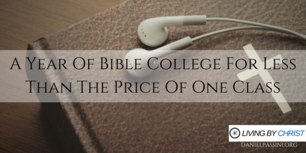 A YEAR OF BIBLE COLLEGE FOR LESS THAN THE PRICE OF ONE CLASS | A full bible and theology degree can be expensive. I'm talking in the $400-600 per hour range expensive. Trust me I know from experience. That puts a price tag of one three hour class anywhere from $1200-1800 each. What if you could get a year of bible college for less than the price of one class?