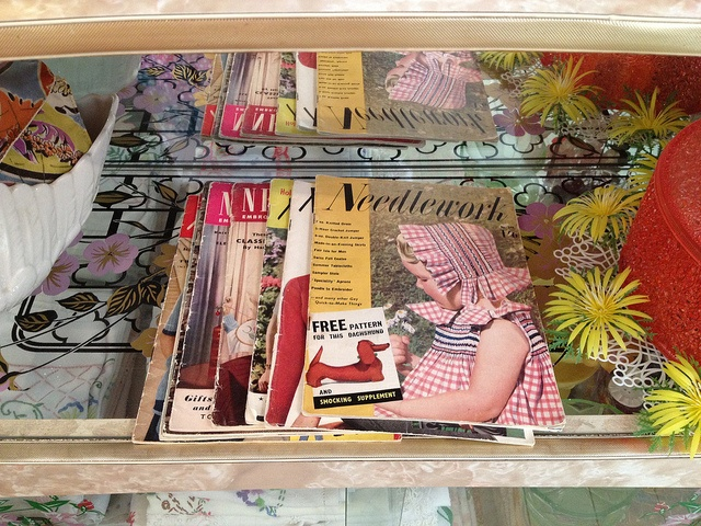 needlework mag by the button tin, via Flickr