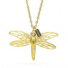 Coach Dragonfly necklace
