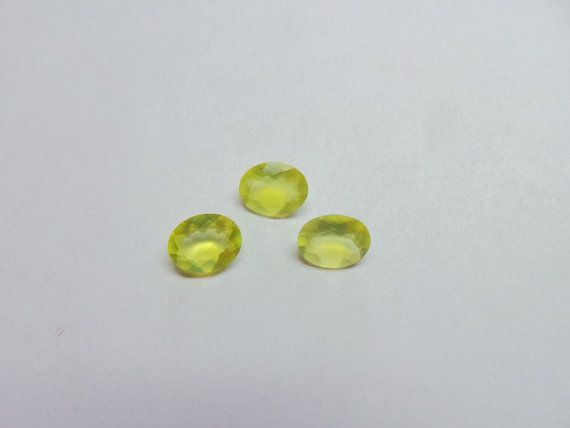 Natural Prehnite 3 Pieces 9x7x3.5 MM Size Oval Cut by StarGemBeads