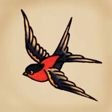 Image result for sailor jerry swallow behind ear tattoo