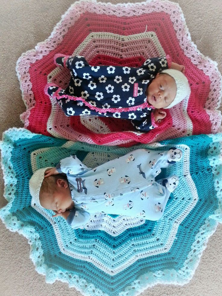 1000+ images about Round ripple baby blanket pattern on ...