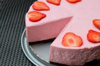 Erdbeer-Käsekuchen ohne Backen - KOHLENHYD-ART