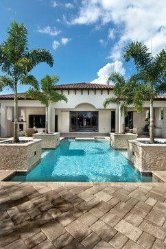 """Sater Design Collection's 6799 """"Arabella"""" Home Plan - mediterranean - Exterior - Miami - Sater Design Collection, Inc."""