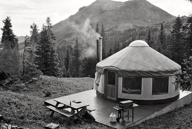 164 best semi permanent shelter images on pinterest for Permanent tent cabins