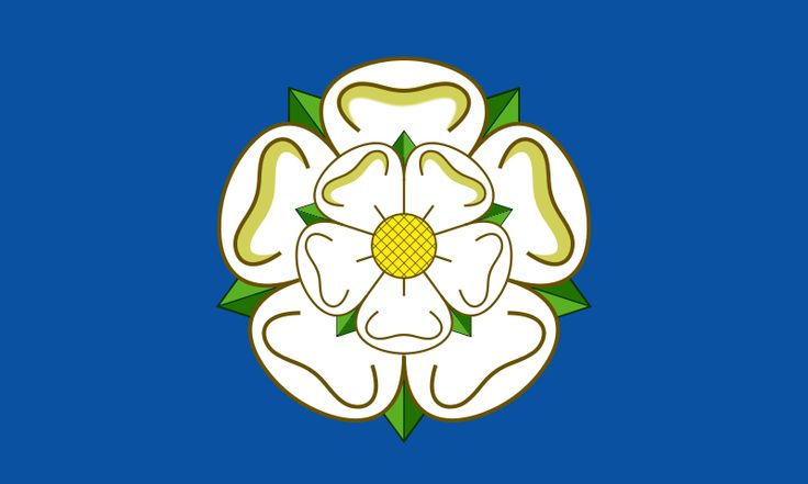 "File:White Rose of York. The ""flag"" of yorkshire"