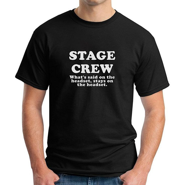 Colorunique mens stage crew whats said on the headset t