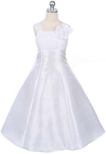 New Gathered Chiffon Empire Flower Girl Dress ~ 4 to 16 Girls ~ First Holy Communion
