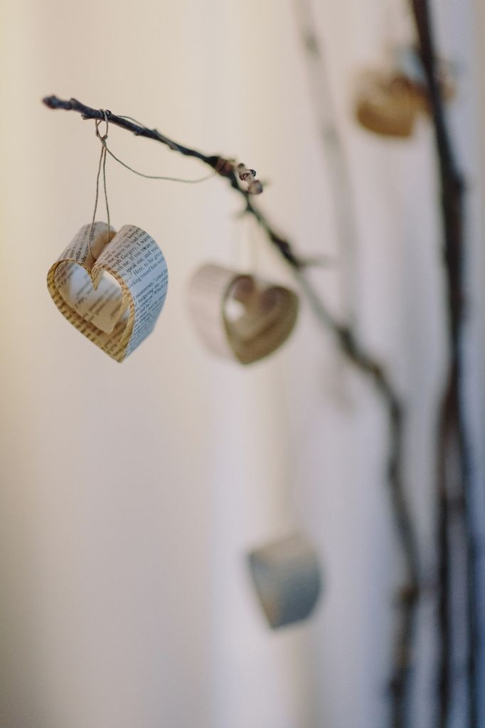 Wedding design by Abigail Nelson: handmade heart garlands