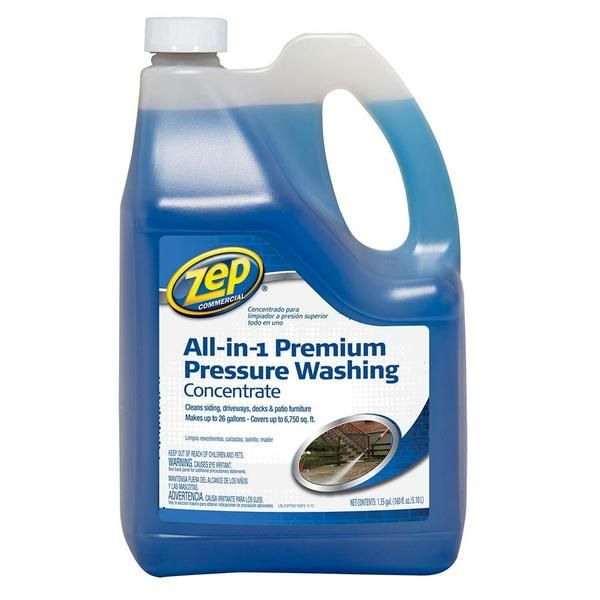 Zep Commercial® All-in-1 Pressure Washing Concentrate works with pressure washing machines to remove dirt, grease, oil and stains caused by algae, mold, mildew and more. The concentrated liquid makes up to 26 gallons of cleaner. For use on vinyl, brick, stucco, wood, concrete, cement, asphalt, fiberglass, tile, stone, metal, plastics and vehicles. Shop now…