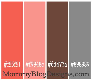 Warm, retro, funky color combo: Coral=#f55f51 Pink/salmon =