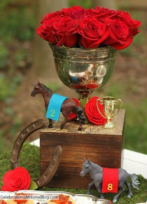 derby themed events   ... for your Derby day party with a few well placed themed decor pieces