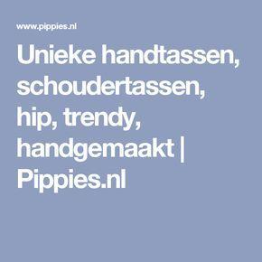 Unieke handtassen, schoudertassen, hip, trendy, handgemaakt | Pippies.nl