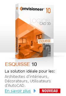 Envisioneer Esquisse-logiciel architecture 3D, amenagement, décoration