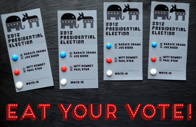 Candy Button Ballots for your election party!