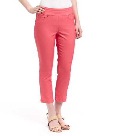 Look at this #zulilyfind! Coral Capri Pants #zulilyfinds