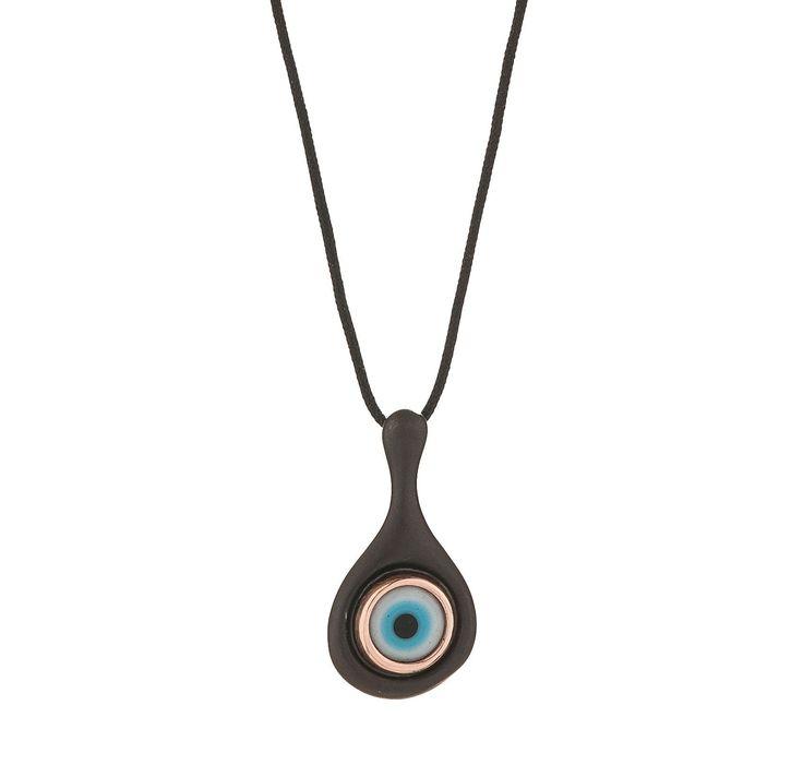 #huffyjewels #evil #eye #pendant #black plated #silver #rose #gold www.huffyjewels.com