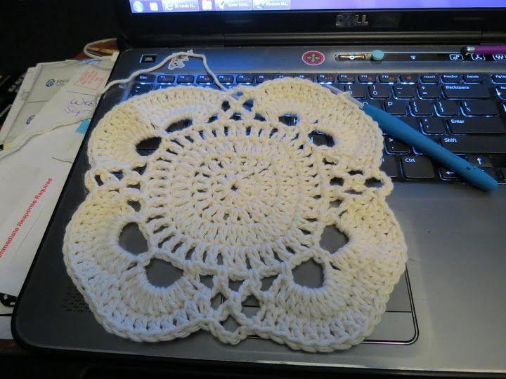 By Jonna Paul - VIRUS shawl turned into a blanket ...