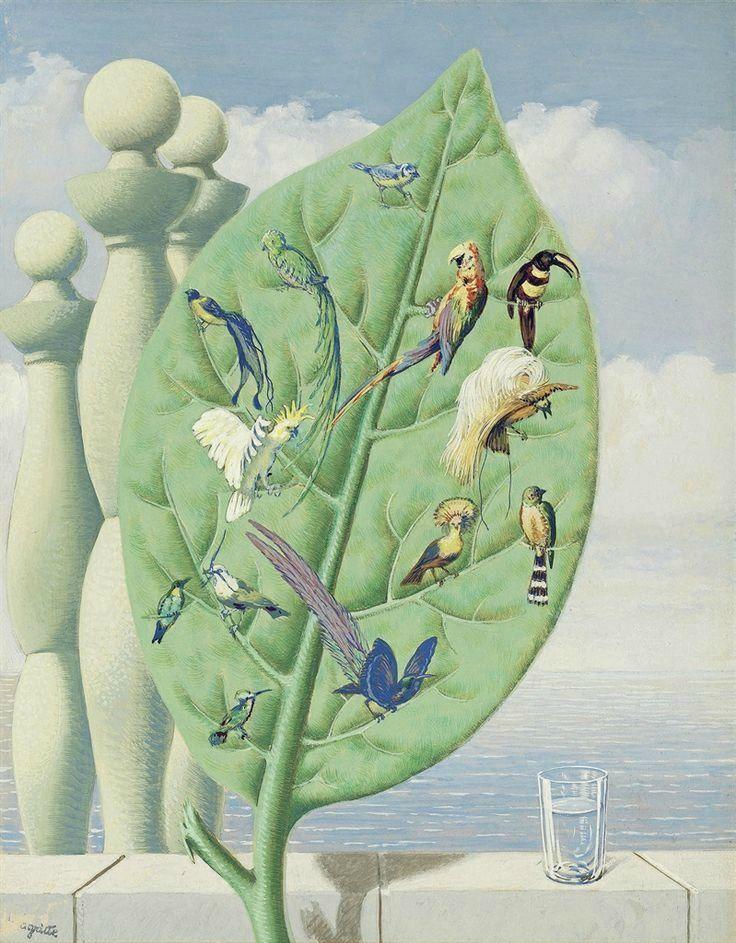 René Magritte (Belg.1898-1967),Le Regard intérieur,1949, gouache sur papier,45,8 x 35,6 cm