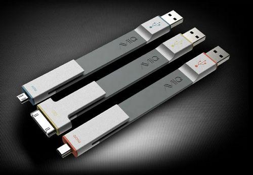 AViiQ Ready Clips, des câbles USB courts et design avec embouts mini, micro et dock