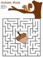 Easy printable mazes! Exactly what I was looking for for S's occupational therapy.  Print and put a bunch into a binder with page protectors.  Use dry erase markers to complete the mazes over and over!