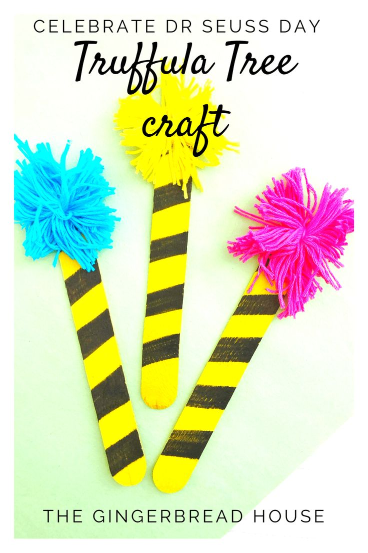 Celebrate Dr Seuss Day Truffula Trees Craft Tree Crafts Dr