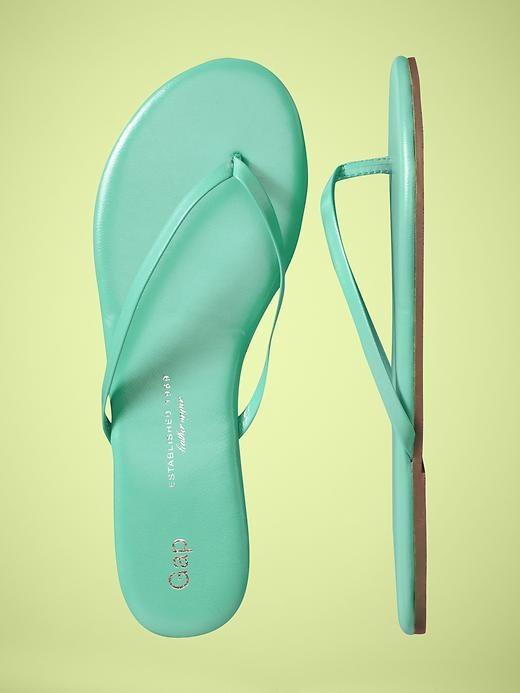 gap leather flip flopsThe Gap, Flipflops, Mint Green, Gap Leather, Tiffany Blue, Mint Color, Leather Flip, Fashion Accessories, Cute Flip Flops