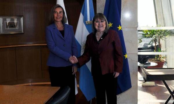 Malcorra recibió a Federica Mogherini