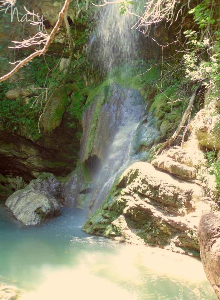 """Fairy's Waterfalls"" is the name. In Kythera"