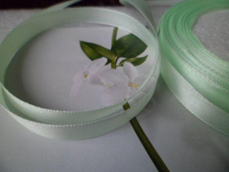 1 M de Ruban Satin Vert Jade 10 mm : Rubans par cedona