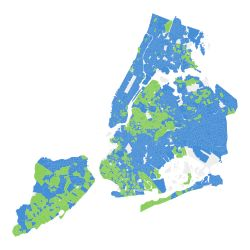 Interactive map showing Democratic Primary results for NYC, but it's also a very good map to just show the neighborhoods. Hover over it and you'll see each tiny area demarcated.