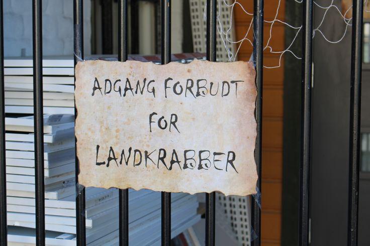 Adgang forbudt for Landkrabber