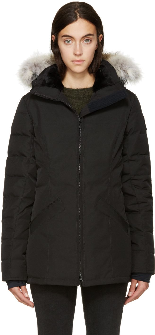 Canada Goose Black Label Down & Fur Belmont Coat ~ http://www.modandretro.com/canada-goose-black-label-down-fur-belmont-coat/