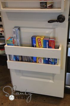pantry door organizer ~ make this! Could always use some extra storage space in the kitchen.