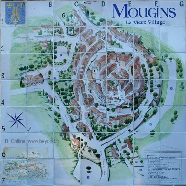 Village de Mougins dans les Alpes-Maritimes